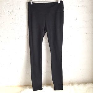Athleta black heathered full length leggings